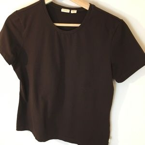 Caslon Brown Cotton Tee Shirt with Stretch